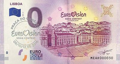 Ticket Memory Tourist Eurovision Lisboa with Stamp No- 30 2018
