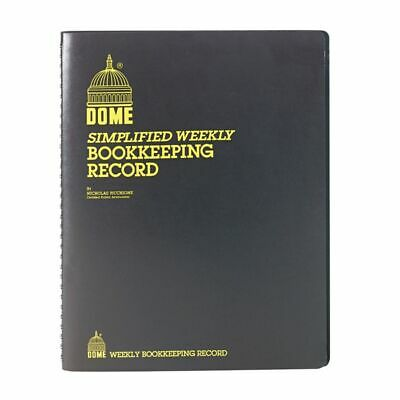 Dome Bookkeeping Record Book - 128 Sheets - Wire Bound - 8 34 x 11 14 Shee