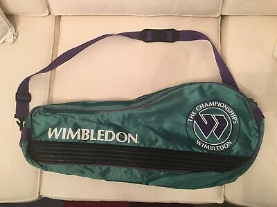 The Championships Wimbledon Green Tennis Racquet Case With Strap