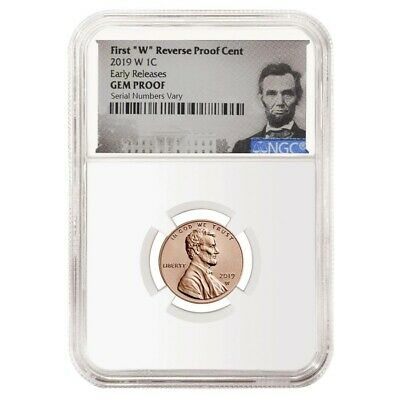 2019 W Reverse Proof Lincoln Penny Cent Comm- NGC Gem PF ER Lincoln Label