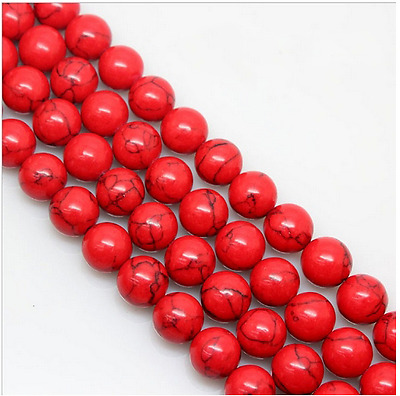 15 4mm 6mm 8mm 10mm 12mm Natural Red Turquoise Gemstone Stone Spacer Beads