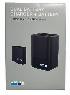GoPro Dual Battery Charger with Battery for HERO5 - HERO6 - HERO7 Blac AADBD-001
