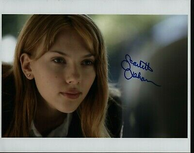 SCARLETT JOHANSSON Hand Signed Autographed 8x10 Photo wCOA- LOST IN TRANSLATION