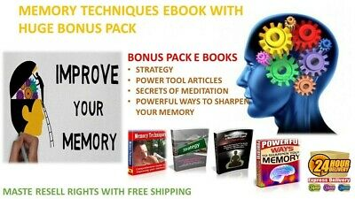 MEMORY TECHNIQUES EBOOK PDF WITH BONUS MASTER RESELL RIGHTS JUST 0-99