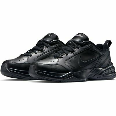Nike AIR MONARCH IV Mens Black 001 Walking Shoes WIDE - Medium WIDTH 4E EEEE