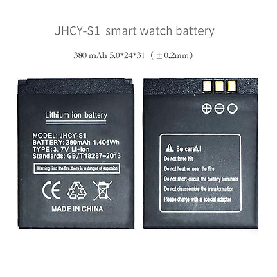 JHCY-S1 battery smart watch phone 380mAh battery long time standby battery