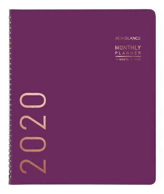 AT-A-GLANCE Contemporary Monthly Planner 9 x 11 Purple Jan to Dec 2020