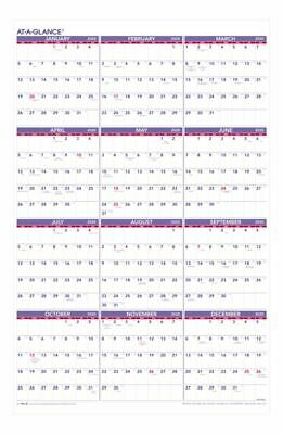 AT-A-GLANCE Yearly Wall Calendar 24 x 36 January To December 2020 PM122820