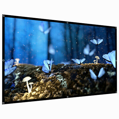 60120150 Portable Foldable Wall Projector Screen 169 Home Theater Outdoor