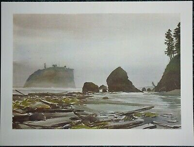 Charles Mulvey Large Watercolor Print 12 X 14-5 - THE STACKS
