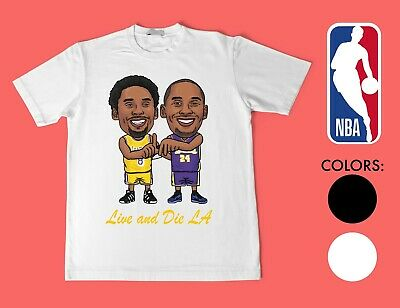 NBA Los Angeles Lakers Kobe Bryant Live and Die LA T-Shirt all sizes
