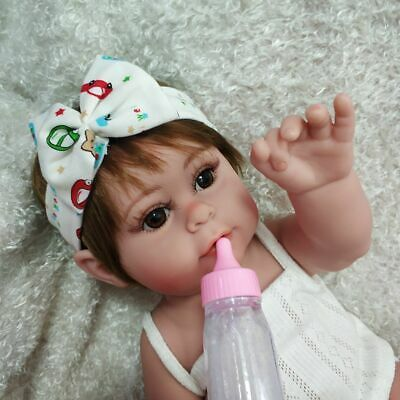 17 Full Body Silicone Reborn Baby Doll Lifelike Waterproof Girl Doll Gifts Toys