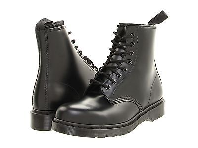 Mens Shoes Dr- Martens 1460 MONO 8 Eye Leather Boots 14353001 BLACK SMOOTH