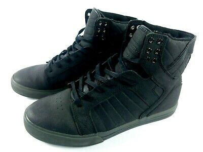 SUPRA Muska 001 Skytop High Top Skate Shoes Sneakers Mens Black Size 9