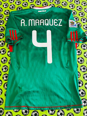 Adidas Mexico Home Soccer Football Jersey World Cup 2010 Rafael Marquez