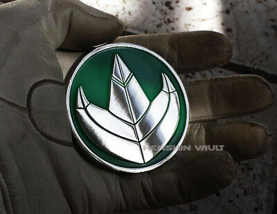 Morphin power Dragonzord challenge mighty no morpher coin Rangers green metal