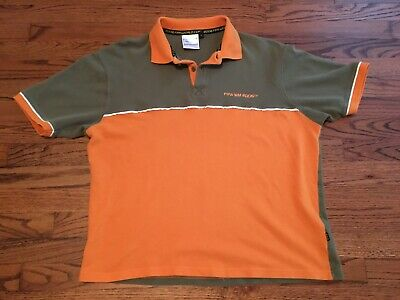 2006 FIFA World Cup Soccer Germany Orange Polo Shirt Size XL Extra Large RARE