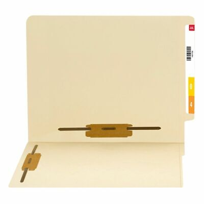 Smead® End-Tab Folders With 2 Fasteners Straight Cut Letter Size Manila Pack