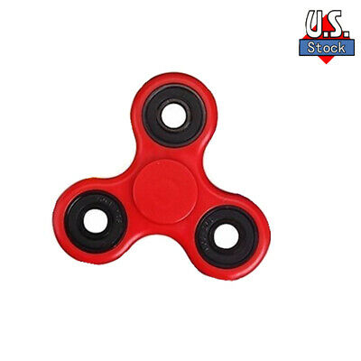 NEW Red Glow Hand Tri Fidget Spinner EDC Toy Fingertip Gyro Gifts toys USA