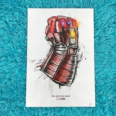 Avengers Endgame Official Re-Release Movie Poster We Love You 3000 Poster 13x19