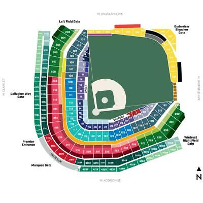 BUY 1 to 8  CHICAGO CUBS LOWER LEVEL TICKETS vs- PADRES- 71919- Section 209