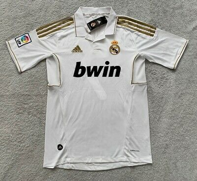 Raul Real Madrid Soccer Jersey Brand New Mens Home White Retro Jersey - Size M