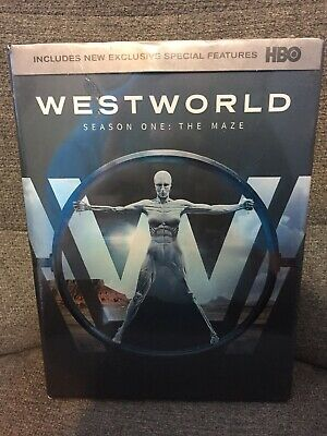 Westworld The Complete First Season DVD 2017 3-Disc Set NEW-Free Shipping