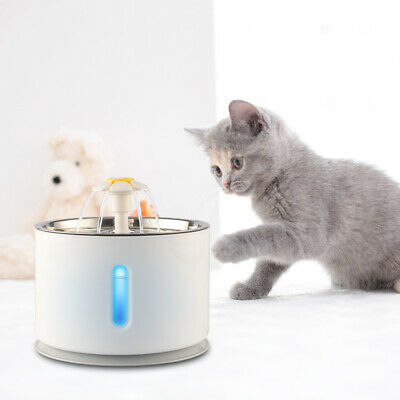 2-4L Automatic Electric Pet Water Fountain CatDog Drinking Dispenser w Filter