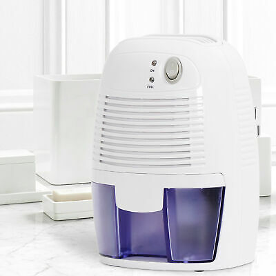 Mini Space Dehumidifier with Auto Shut Off Quietly Extracts Moisture