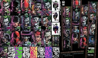 BATMAN Three 3 JOKERS ALL 17 Variants - 7 Ratios Fabok PREMIUM HC New JAWS Var