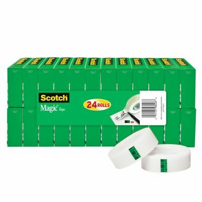 Scotch® Magic™ Invisible Tape 34 x 1000 Clear Pack of 24 Rolls