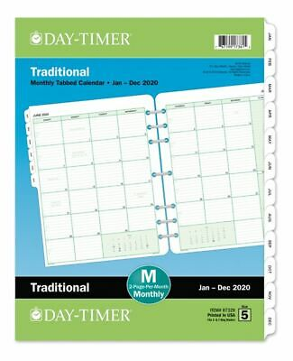 Day-Timer Classic Monthly Refill Folio Size 8-5 x 11 Jan-Dec 2020