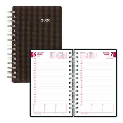 Brownline Daily Planner 5 x 8 Black January 2020 to December 2020