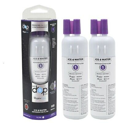 2 Pack-WLP-Drop1-Refrigerator Water Filter