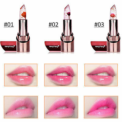 Long Lasting Moisturizer Gloss Makeup Magic Jelly Flower Color Changing Lipstick