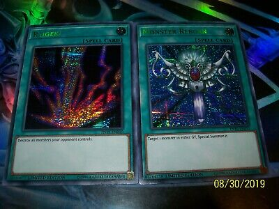 Raigeki - Monster Reborn Limited Edition Prismatic Secret Rare TN19 Yu-Gi-Oh