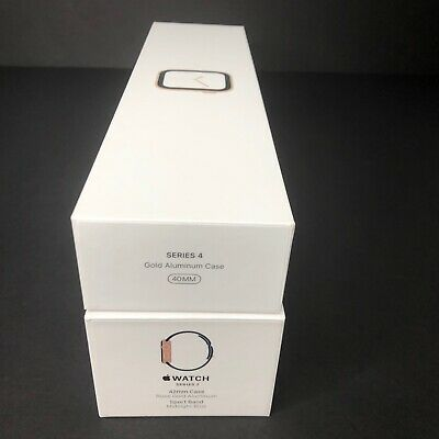 Apple Watch Empty Boxes Lot of 2 Series 2 Rose Gold and Series 4 Gold No Watches