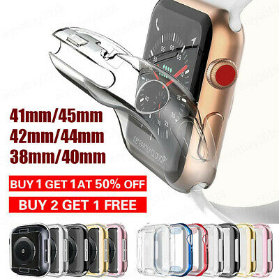 For iWatch Apple Watch 23456SE Protector Full Cover TPU Case 38404244mm