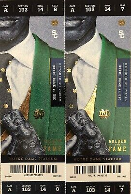 2 Notre Dame vs v USC Tickets  Section 103 Row 14
