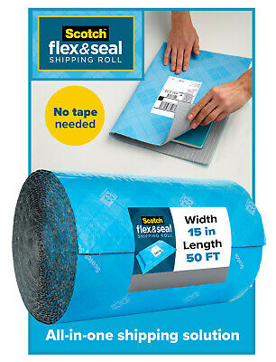 Scotch Flex And Seal Shipping Roll 15 x 50 Light Blue