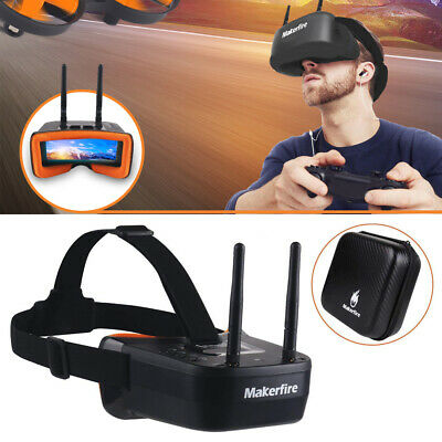 5-8Ghz Mini FPV Goggles 40CH FPV Video Headset Glasses Double RP-SMA Antenna NEW