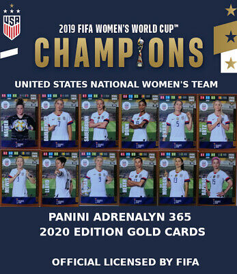 USA NATIONAL WOMENS TEAM -  GOLD CARDS 2020 - WORLD CUP FRANCE 2019 - ADRENALYN