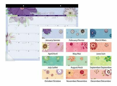 AT-A-GLANCE Paper Flowers Monthly Desk Pad 22 x 17 Jan-Dec 2020 5035-20