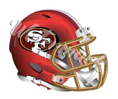 San Francisco 49ers Elite Helmet Sticker  Vinyl Decal    10 sizes 🏈