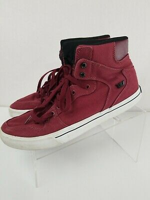 Nice Supra Vaider Mens Canvas Lace Up Athletic Surf Skate Shoes Size 11 Maroon