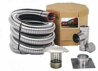 6 DIAMETER FLEX-ALL SMOOTHWALL ALL FUEL STAINLESS STEEL CHIMNEY LINER KITS