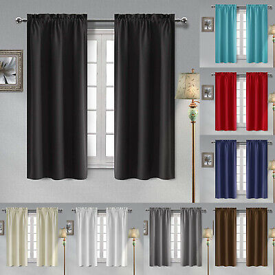 2 Panels Thermal Insulated Blackout Curtains Room Darkening Window Curtains