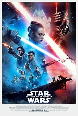New Art Print Of Movie Poster 2019 Star Wars  The Rise of Skywalker 4 Sizes