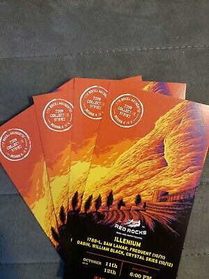Illenium Red Rocks Authentic 2019 Collector Series 3 tickets available