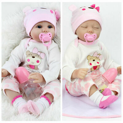 22 REBORN BABY DOLLS REAL LIFE LIKE LOOKING NEWBORN BABY GIRL DOLL-CLOTHES